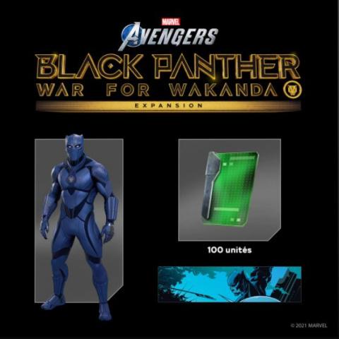 Marvel's Avengers : un pack Black Panther, avec un skin inédit, offert aux abonnés PS Plus