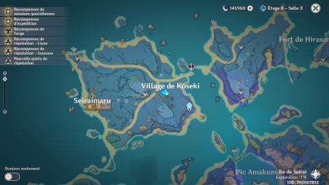 Genshin Impact, la quête des reliques de Seirai : notre guide