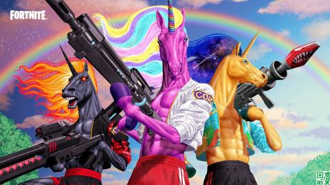Fortnite Chapitre 2, Saison 8 Battle Pass : Carnage et des licornes au programme