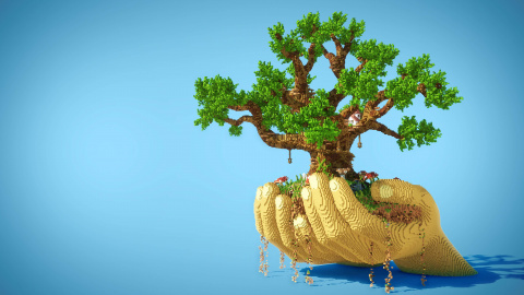 Minecraft: A tree built in the game is a tree planted in real life!