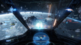 Star Citizen survole la zone d'atterissage de Nyx