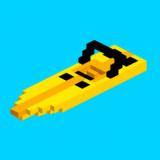 Frégate pixelisée sur Speed Boaty