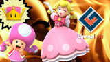 New Super Mario Bros. U Deluxe : Peachette et Carottin en action