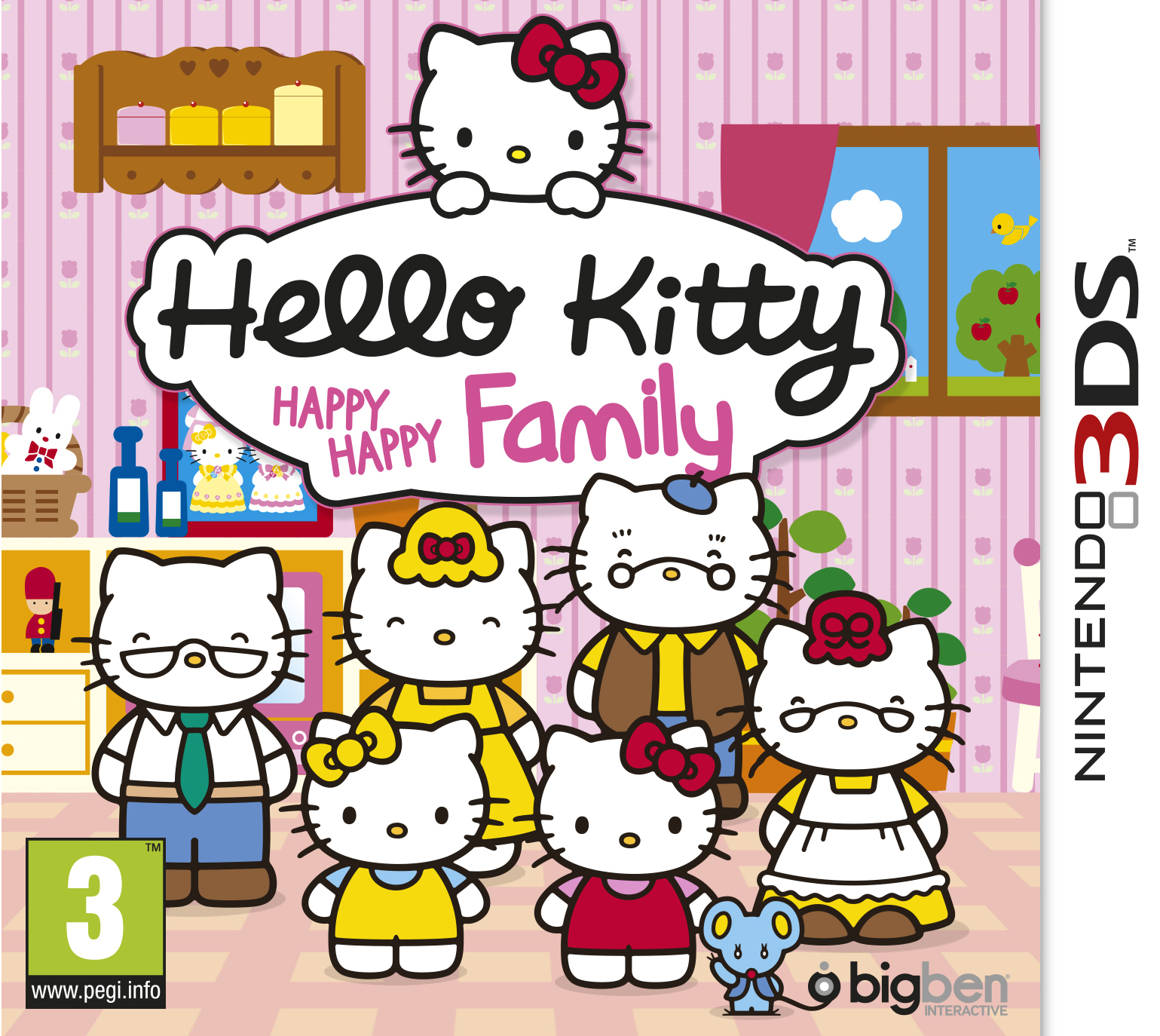 hello kitty happy happy family sur nintendo 3ds. Black Bedroom Furniture Sets. Home Design Ideas