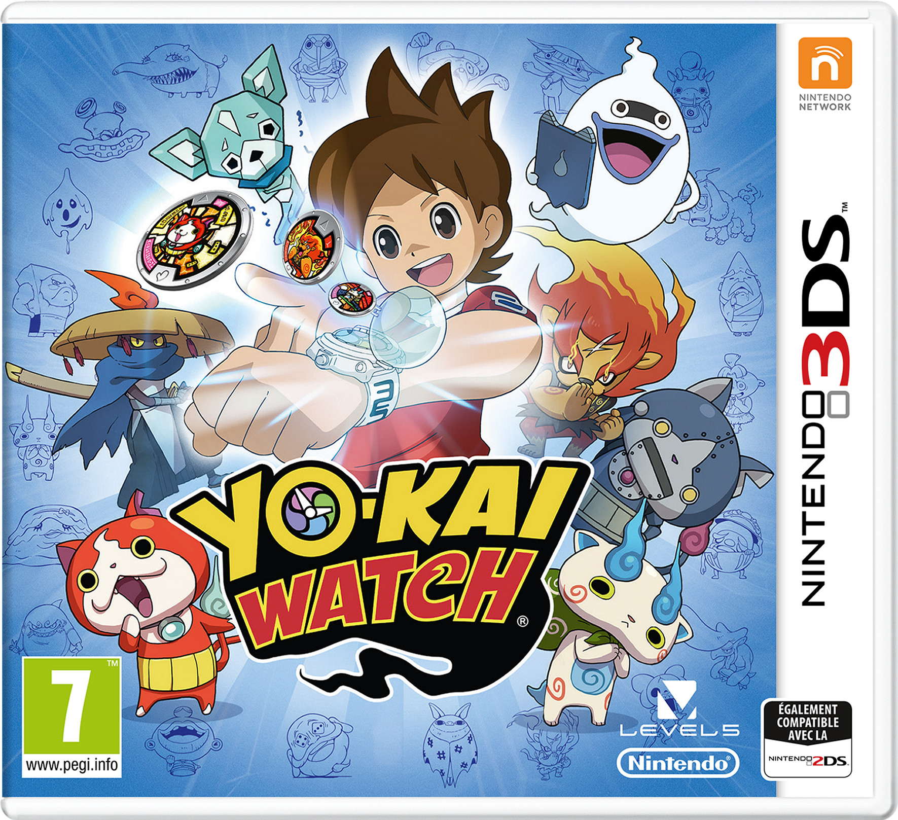 yo kai watch sur nintendo 3ds. Black Bedroom Furniture Sets. Home Design Ideas