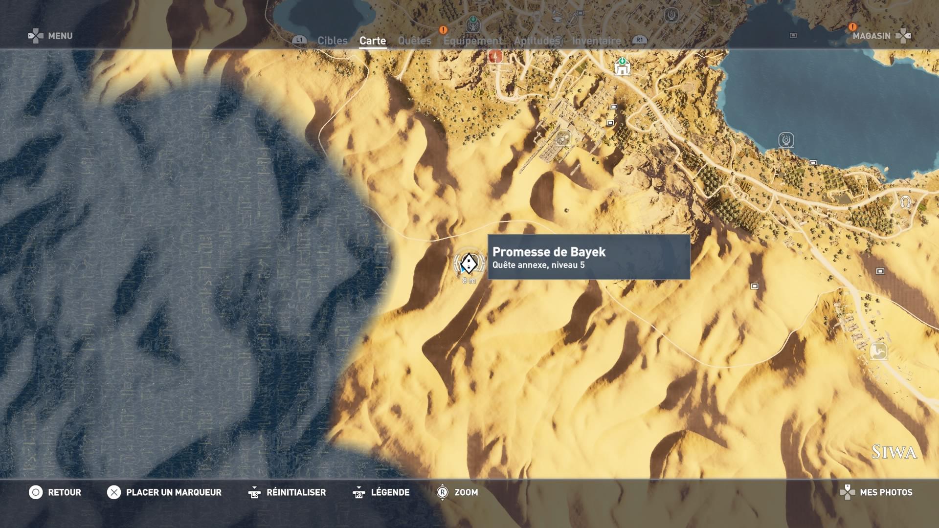 Assassin's Creed Origins - Emplacement cercles de pierres