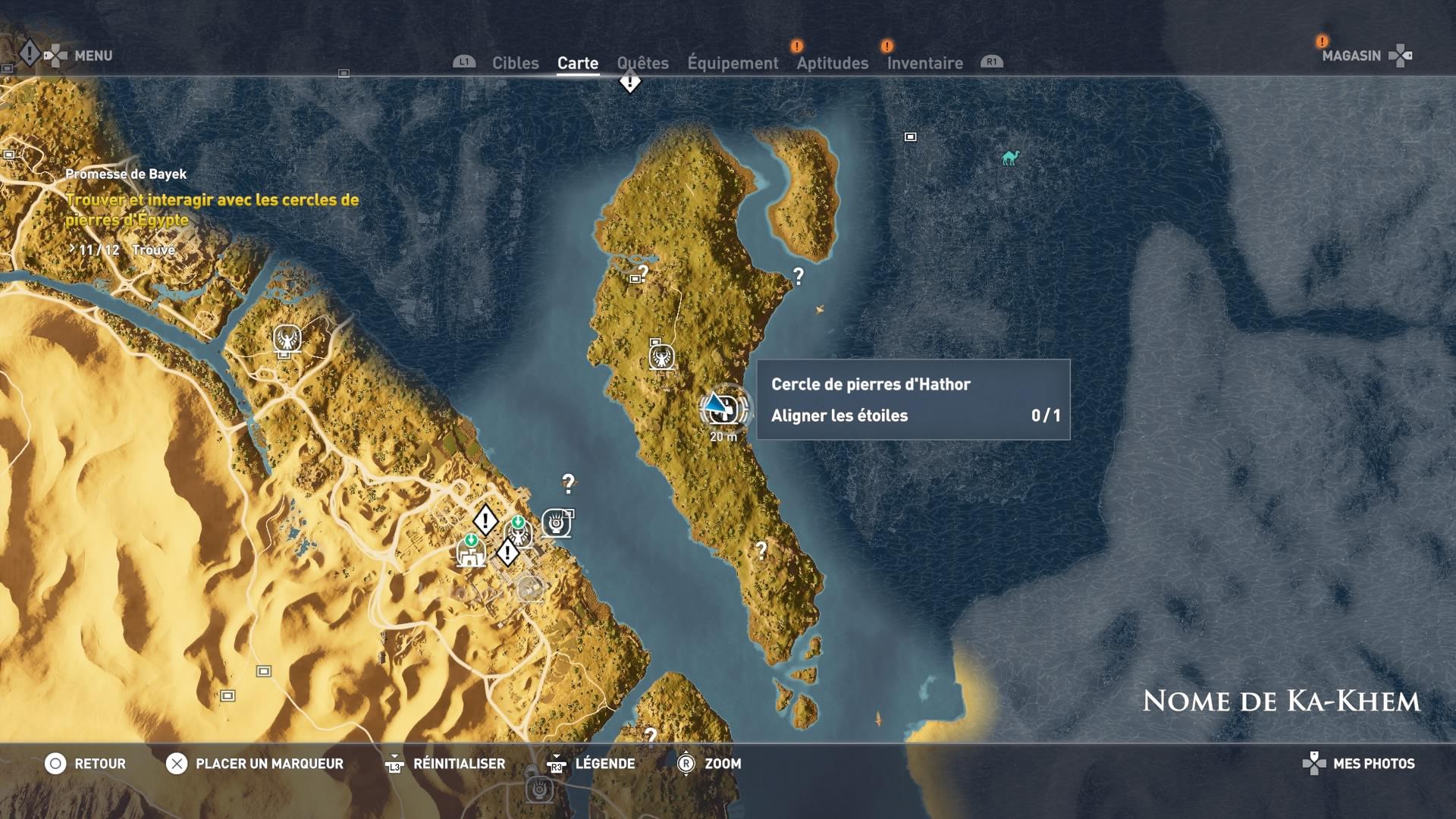 Assassin's Creed Origins – Soluce Emplacement cercles de pierres