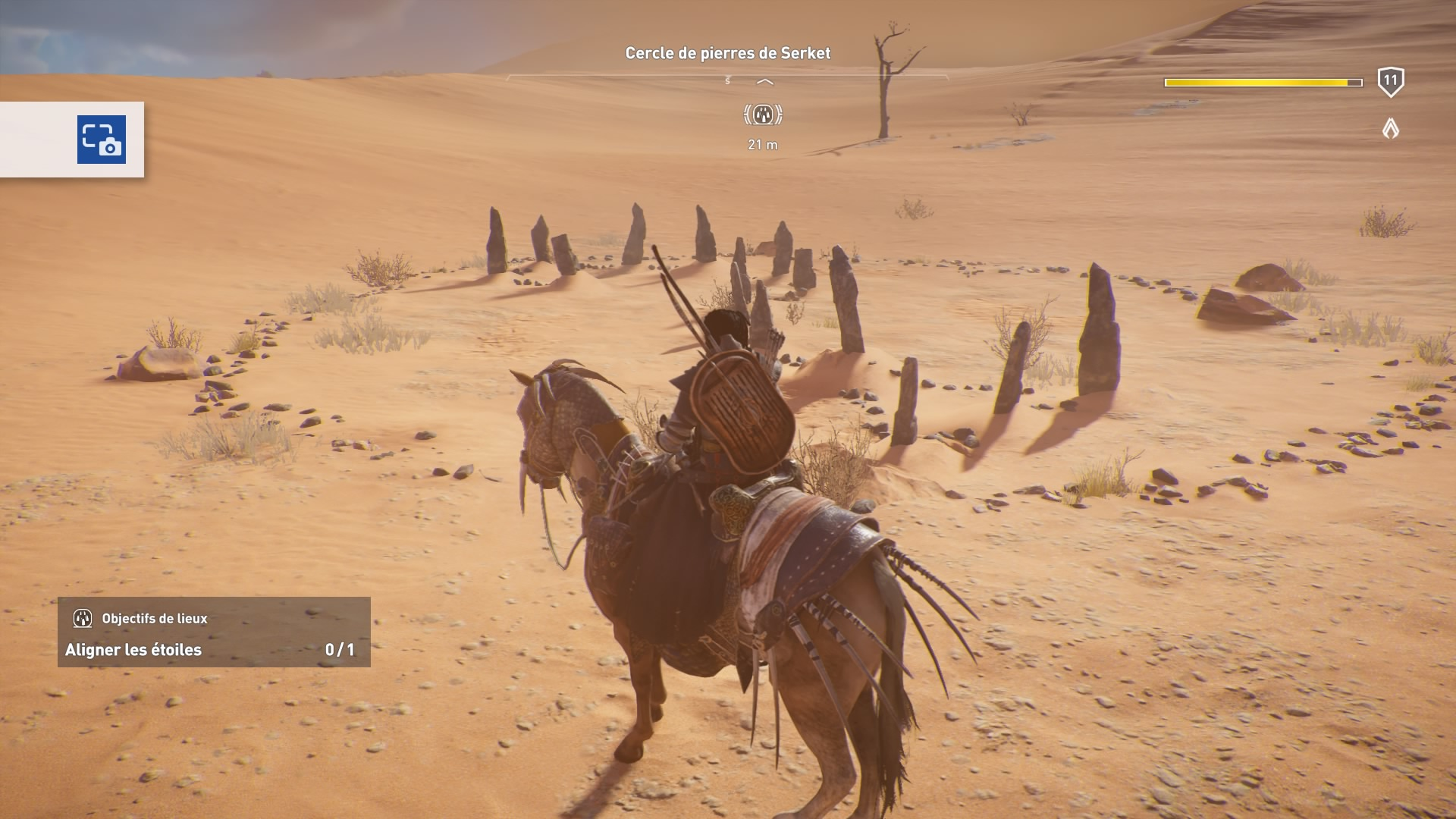 Assassin's Creed Origins - Emplacement cercles de pierres