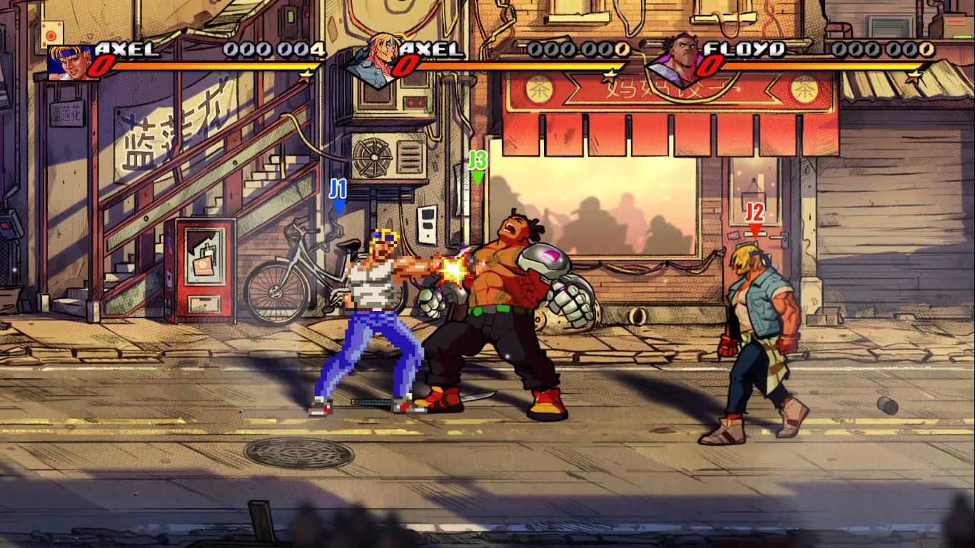Streets of Rage 4 : Un duel pour la postérité, PvP à 3 joueurs