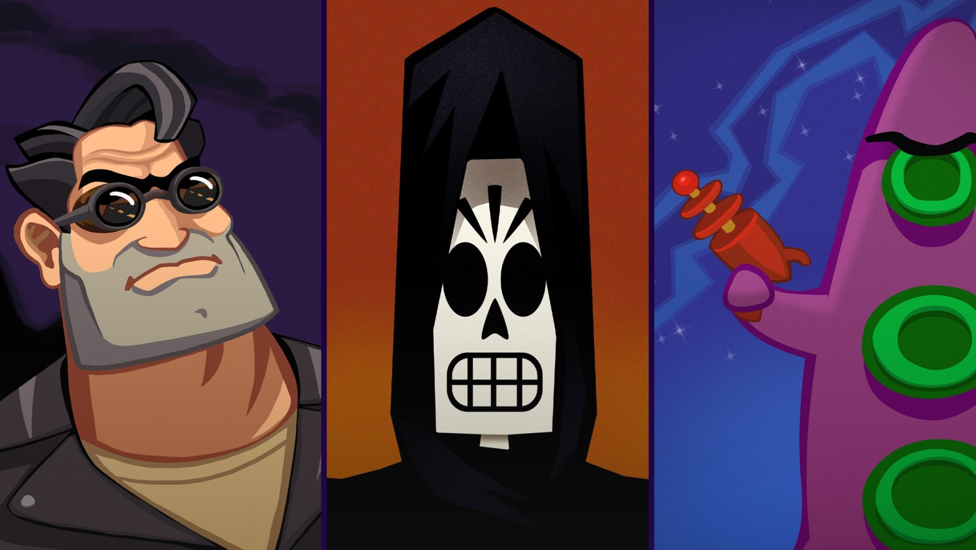 Grim Fandando, Day of the Tentacle, and Full Throttle Remastered dated on Xbox One and PC
