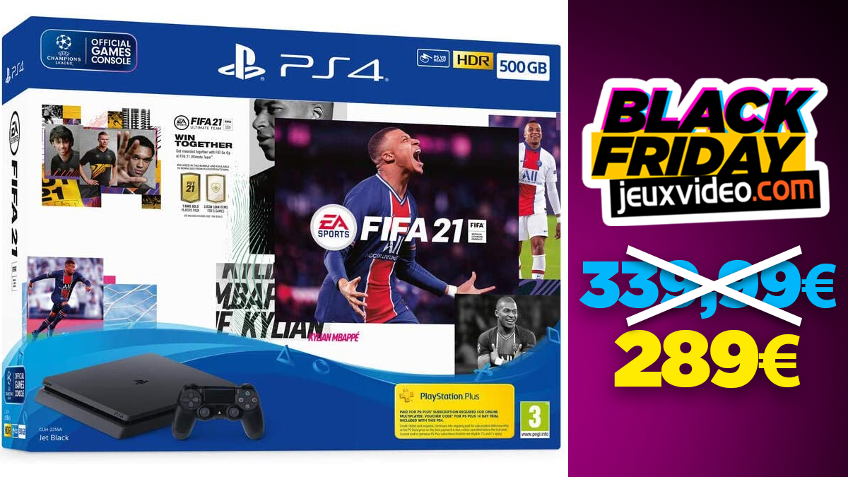 Black Friday: PS4 + FIFA 21 pack for € 289 at Amazon