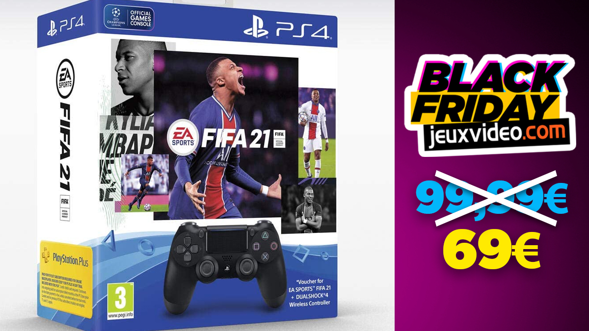 Black Friday: The DualShock 4 + FIFA 21 pack at a low price at Amazon
