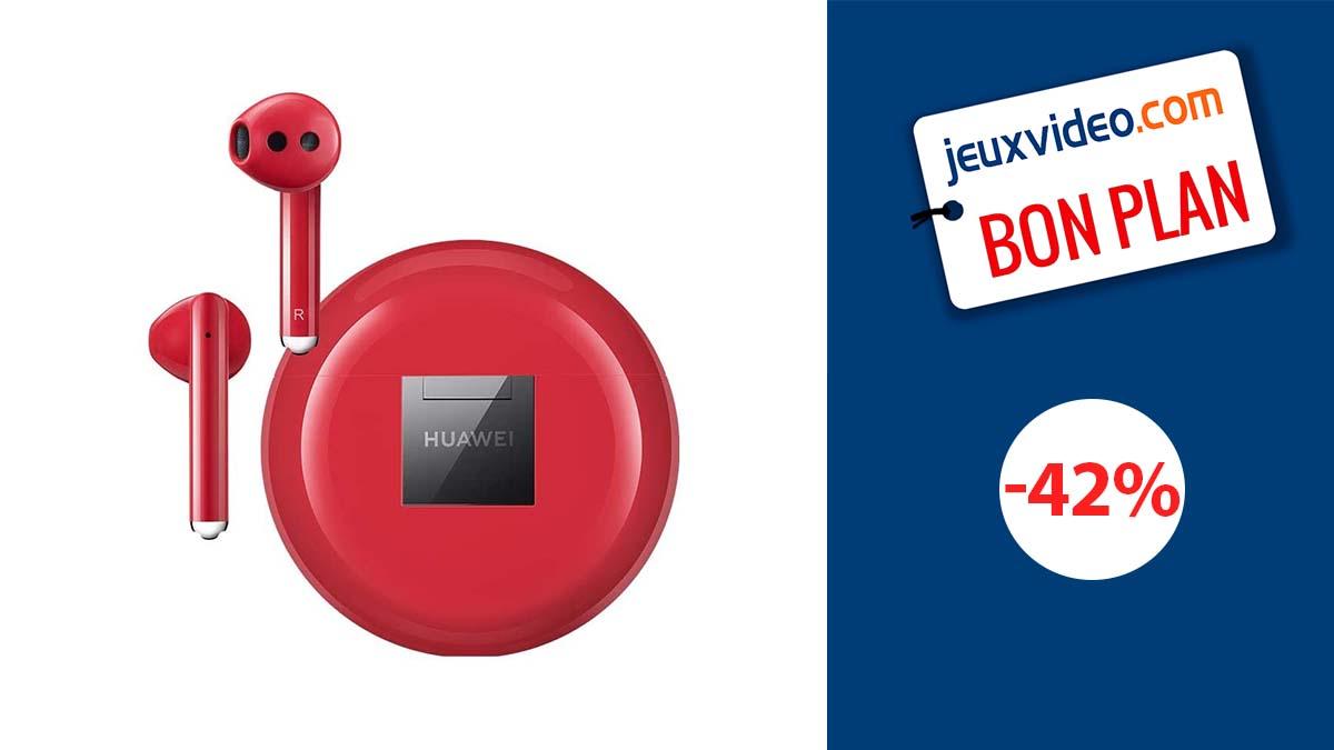HUAWEI FreeBuds 3: High-end red wireless headphones on sale