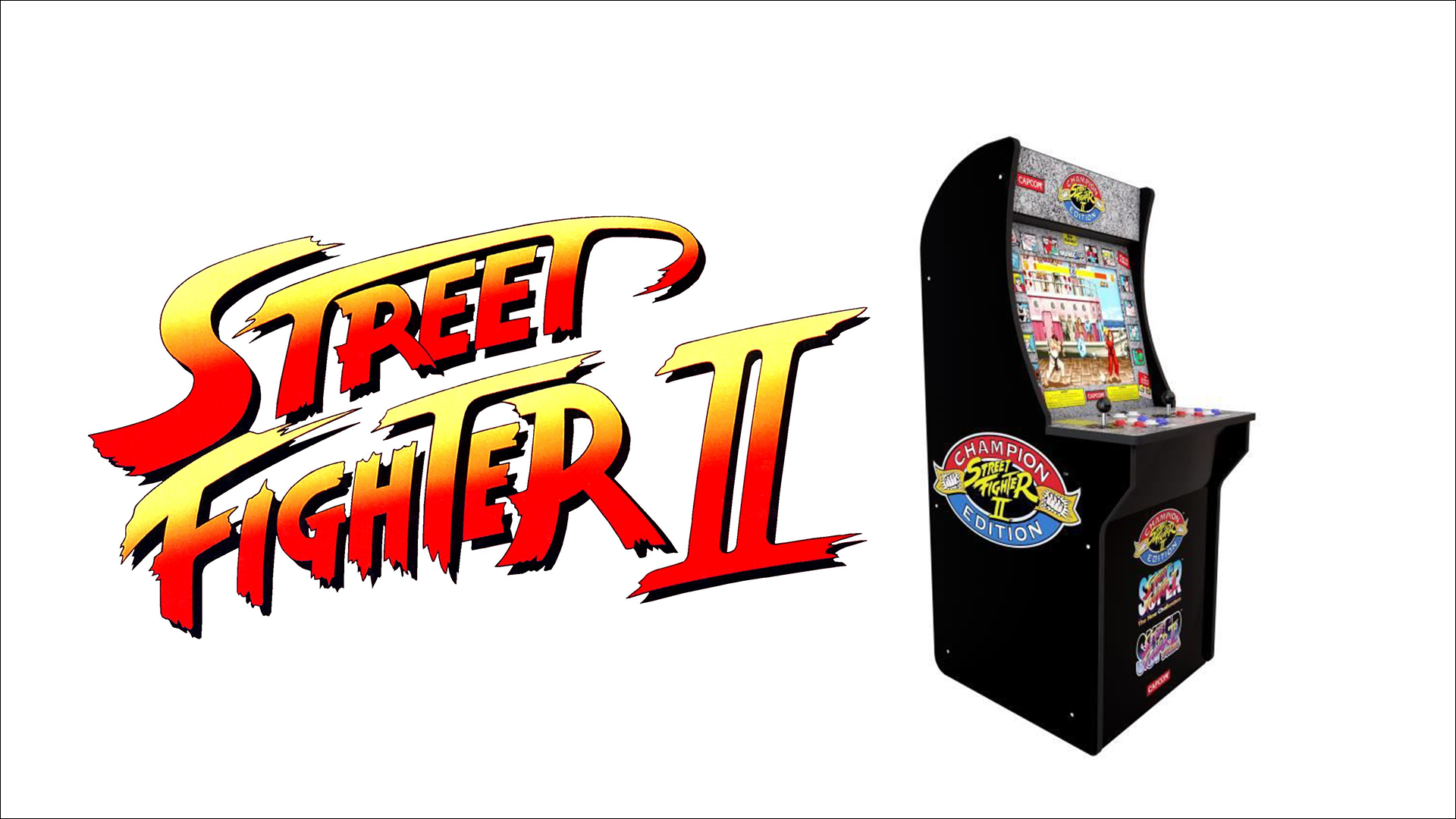 Street Fighter 2: promo on the special 1Up arcade machine