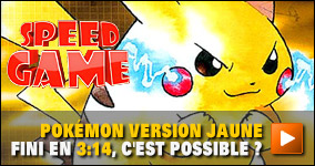 Pokémon Version Jaune fini en 3:14, c'est possible ?