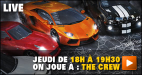 Jeudi de 18h à 19h30 : on joue à The Crew
