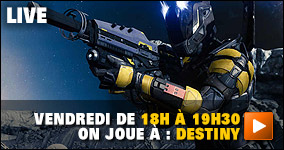 Vendredi de 18h à 19h30 : on joue à Destiny