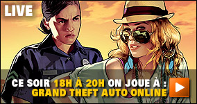 ce soir 18h à 20h on joue à :  Grand Theft Auto Online