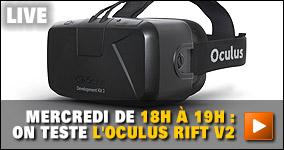 Mercredi de 18h à 19h : on teste l'Oculus Rift V2