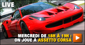 Mercredi de 18h à 19h : On joue à Assetto Corsa